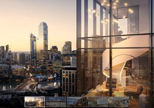 Phối cảnh một dự án căn hộ hạng sang có giá bán gần 300 triệu đồng mỗi m2.