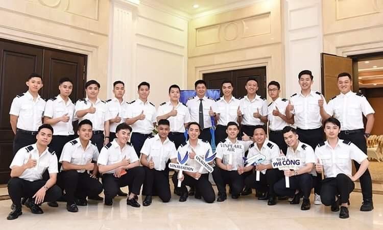 Học viên tại trường đào tạo nhân lực ngành hàng không của Vingroup. Ảnh: Vinpearl Air.