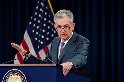 Chủ tịch Fed Jerome Powell trong họp báo hôm qua. Ảnh: Reuters