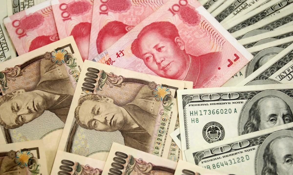 Yen mất giá, nhân dân tệ lên đỉnh