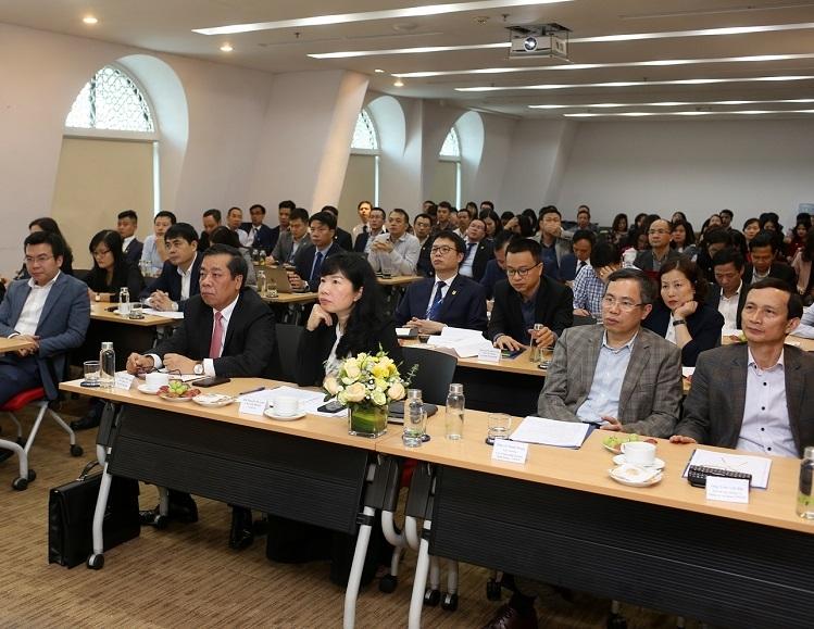 Hội nghị có sự tham gia của lãnh đạo và cán bộ nhân viên NAPAS.