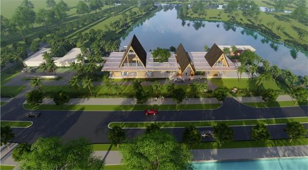 Phối cảnh clubhouse Ecopark Grand - The Island rộng hơn 7000m2.
