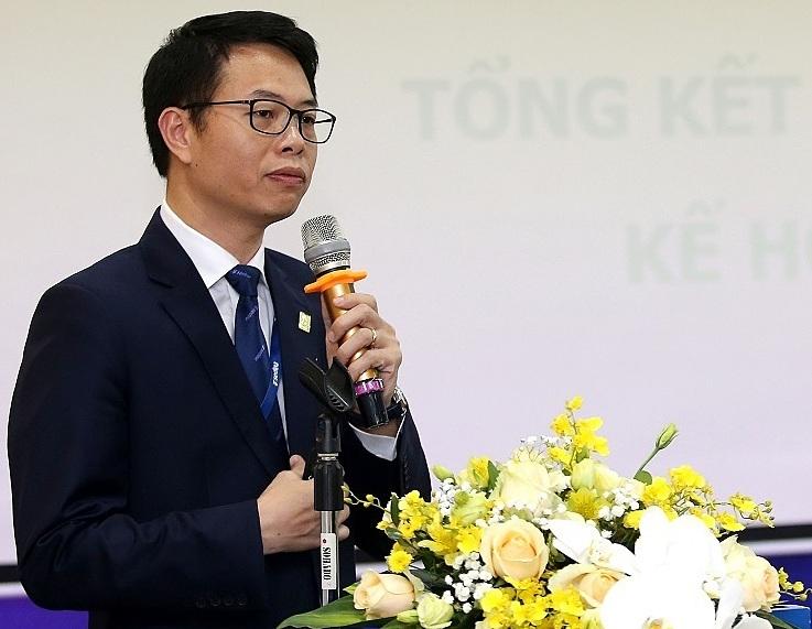 Ông Nguyễn Quang Hưng - Tổng giám đốc Napas báo cáo kết quả hoạt động năm2019 và triển khai nhiệm vụ năm2020.
