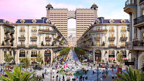 Tuyến phố thương mại Royal Vạn Phúc một khi được hoàn thành sẽ là tâm điểm thu hút du khách - Ảnh: phối cảnh
