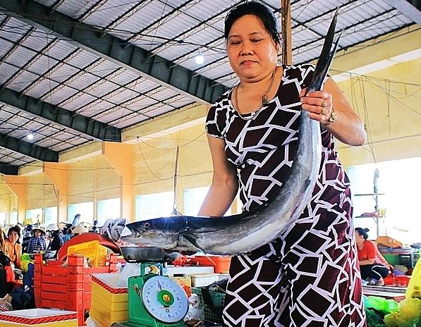 Cá bớp là loại được nhiều người tiêu dùng mua về dự trữ ăn tết. Ảnh: Phương Đông.