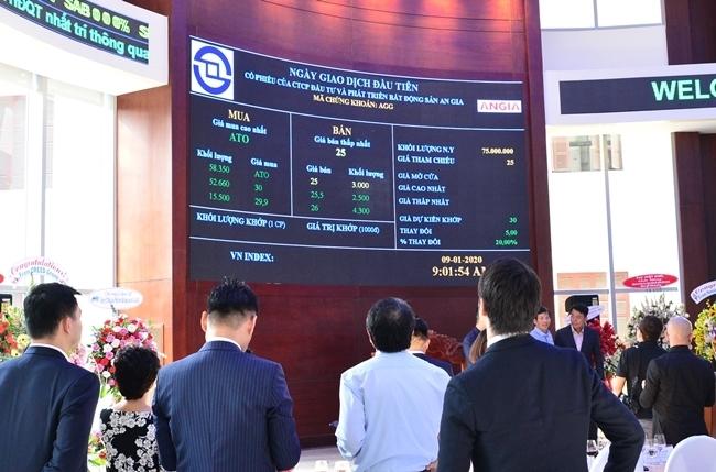 Nhà đầu tư theo dõi thông tin niêm yết tại sàn chứng khoán TP HCM, tháng 1/2020. Ảnh: HoSE.