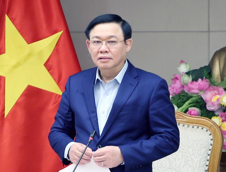 Phó thủ tướng Vương Đình Huệ chỉ đạo tại cuộc họp Ban chỉ đạo giá chiều 31/1. Ảnh: VGP