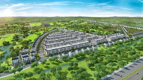 Phối cảnhtại tổ hợp biệt thự sân golf phong cách Mỹ West Lakes Golf & Villas