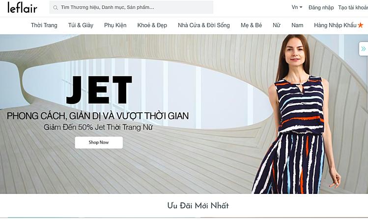Giao diện trang bán hàng của Leflair vào lúc15h ngày 5/2. Ảnh chụp màn hình: V.T
