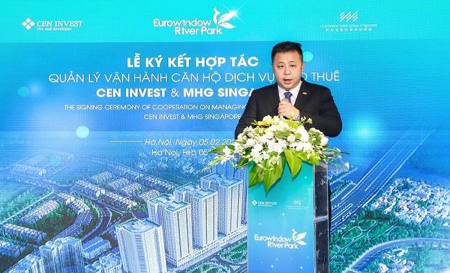 Pic 2. Ông Ray Chow - Phó chủ tịch Vận hành tập đoàn MHG phát biểu tại sự kiện