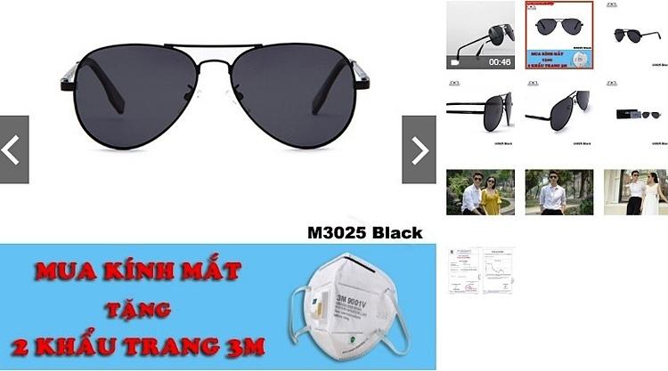 Nhiều shop online bán 2.000 -3.000 chiếc kính nhờ chiêu khuyến mãi mua kính tặng khẩu trang. Ảnh: HC.