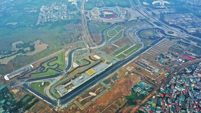 Đường đua F1 Việt Nam dự kiến hoàn thành vào tháng 3.