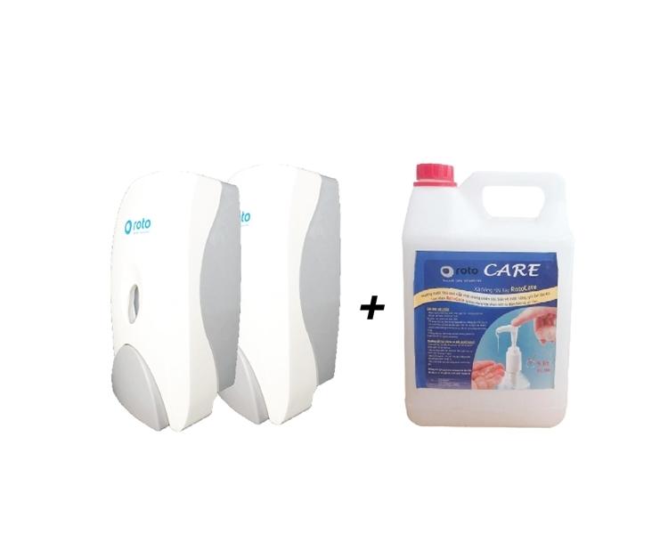 xà phòng rửa tay và bình đựng sẽ được tặng cho các doanh nghiệp tại Đà Nẵng và TP HCM.