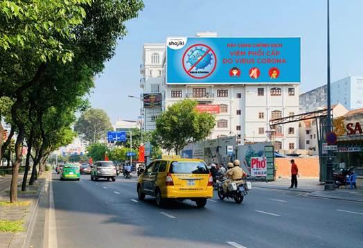 Bảng quảng cáo lớn tại số 20 đường Phan Đình Giót, quận Tân Bình, TP HCM.