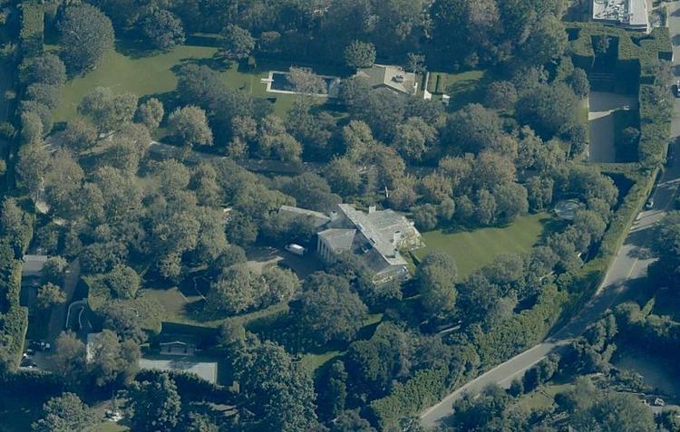 Dinh thự Warner Estate nhìn từ trên cao. Ảnh: Pictometry
