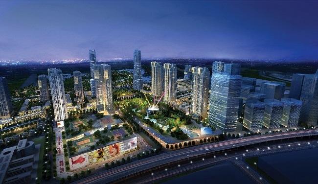 Phối cảnh The Manor Central Park – Khu đô thị quy hoạch mở tại phía Tây Hà Nội.