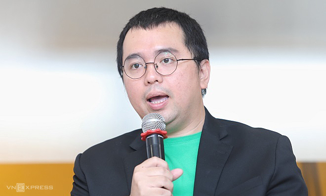 Ông Tuấn Anh xuất hiện tạisự kiện hồi tháng 9/2019 với vai trò CEO Grab Financial. Ảnh: Thành Nguyễn