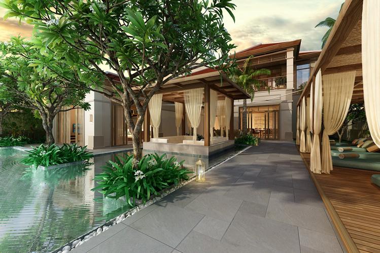 Phối cảnh biệt thự nghỉ dưỡng Fusion Resort & Villas Danang