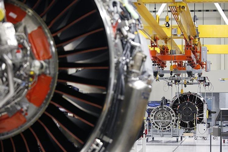 Động cơ LEAP dành cho máy bay củaGE sản xuất tạiIndiana, Mỹ. Ảnh: Bloomberg