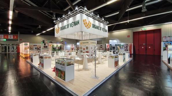 Hội chợ Biofach giới thiệu nhiều nông sản hữu cơ từ Việt Nam.