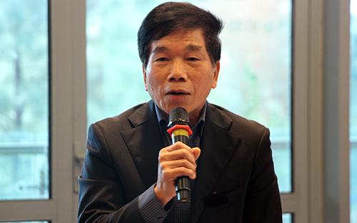 Ông Nguyễn Quốc Hiệp - Chủ tịch HĐQT GP Invest tại hội nghị ngày 18/2. Ảnh: VNREA