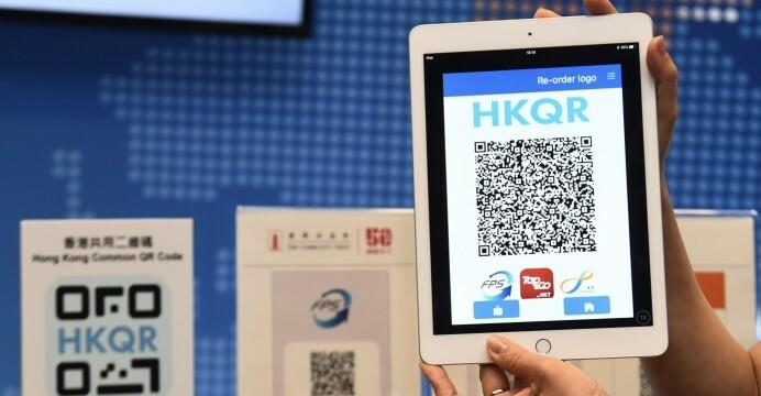 Hệ thống thanh toán nhanh tại Hong Kong cho phép giao dịchqua quét mã QR. Ảnh: CNSA