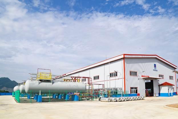 Nhà máy sản xuất khí ga lạnh PVCK tại Bà Rịa - Vũng Tàu.