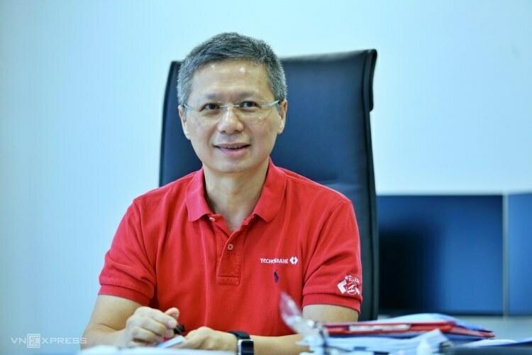 Tổng giám đốc Techcombank Nguyễn Lê Quốc Anh. Ảnh: Anh Tú.