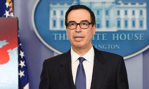 Bộ trưởng Tài chính Mỹ Steven Mnuchin. Ảnh:AFP