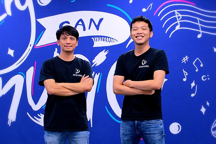 CEO Võ Tuấn Bình (bên trái) và CPO Nguyễn Tuấn Cường (bên phải) là hai nhà sáng lập Amanotes. Ảnh:Amanotes
