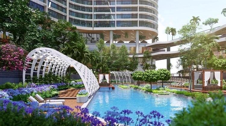 Wellness Center nằm trong khuôn viên của tòa tháp Aqua Beauty Resort, quy mô hơn 700 căn hộ nghỉ dưỡng hạng sang.      Tòa tháp có thiết kế cảnh quan như một khu resort của Bali (Indonesia) với cây và nước hiện diện khắp nơi, tiếp cận tận thềm căn hộ.