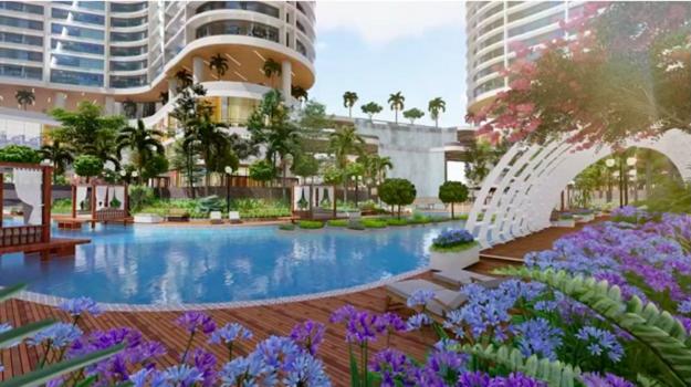Cư dân tòa tháp Aqua Beauty Resort cũng sở hữu gần 100 tiện ích cao cấp trong toàn dự án với khu hồ bơi rộng gần 4.000 m2, tuyến phố ẩm thực - shopping - giải trí quanh dòng sông nhân tạo dài gần 1.000m uốn quanh các tòa tháp, tổ hợp skybar và coffee tầng thượng có tổng quy mô 1.100 m2.