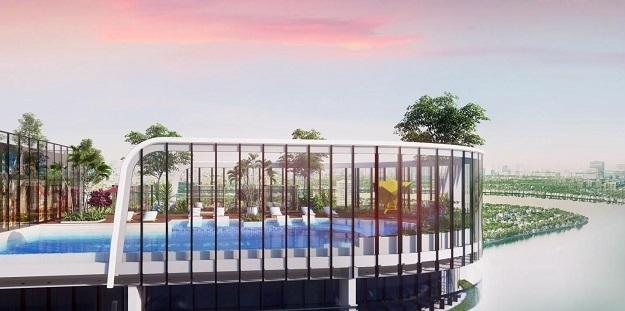 Trong đó, trung tâm skybar nằm trên độ cao hơn 100m, quy mô 600 m2. Riêng vườn café thiên hà có quy mô 500 m2, Disneyland và vườn cổ tích cho trẻ em rộng hơn 4.000 m2, rạp chiếu phim quy mô hơn 2.000 m2, khu chơi Bowling lớn bậc nhất TP HCM tới hơn 500 m2; Tiniworld và khu vui chơi cho trẻ em trong nhà gần 2.000 m2, sân trượt băng gần 1.000 m2... Trong khu resort này, từ bãi giữ xe, hệ thống kết nối các siêu thị, phòng khám, nhà hàng, đến tất cả thiết bị trong nhà đều điều khiển bằng công nghệ thông minh.