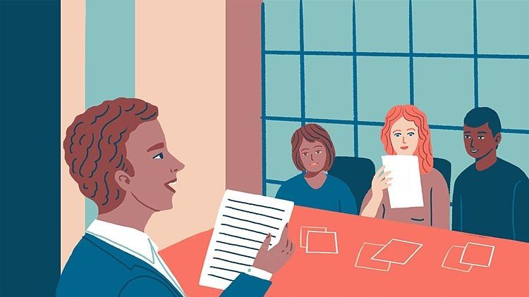 Hiệu quả cuộc họp đến từ thảo luận chứ không phải nghe thuyết trình. Đồ họa: WSJ