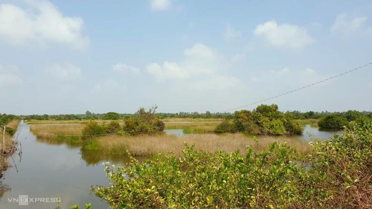 Một khu đất nuôi trồng thuỷ sản tại tỉnh Kiên Giang. Ảnh: Phương Đông.