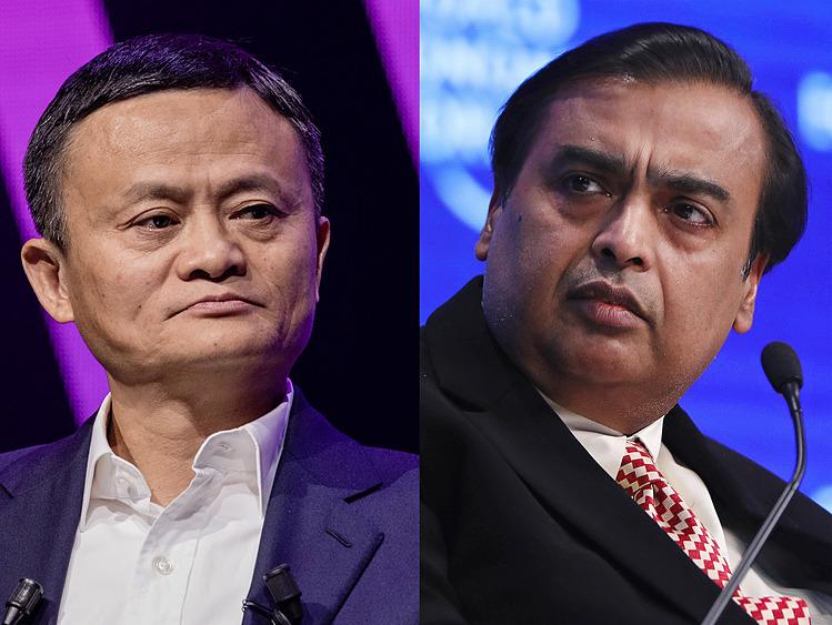 Jack Ma (trái) và Mukesh Ambani hiện là hai người giàu nhất châu Á. Ảnh: Bloomberg