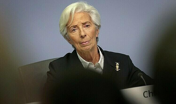 Bà Christine Lagarde, Ch? t?ch ECB, t?i m?t cu?c h?p ngày 23/1. ?nh: AFP