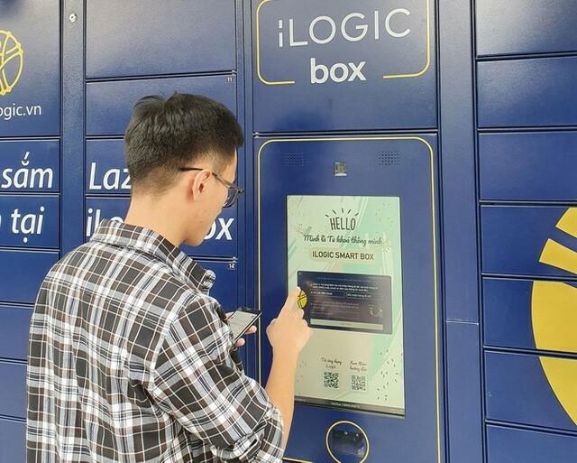 Lazada là sàn thương mại điện tử duy nhất tại Việt Nam hiện tại triển khai dịch vụ nhận hàng tự động qua tủ khóa thông minh.