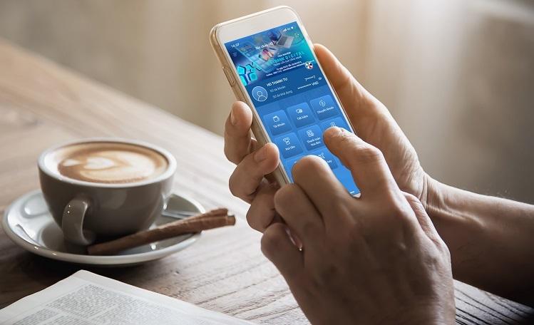 Hệ sinh thái tích hợp đa dịch vụ Vietbank Digital trên điện thoại.