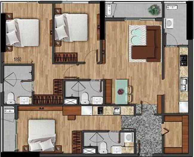 Thiết kế một căn hộ phiên bản giới hạn Dual Key.