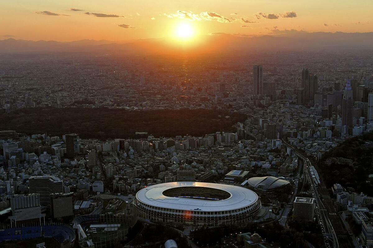 Sân vận động Quốc gia Nhật Bản - địa điểm chính cho Olympic 2020. Ảnh: Reuters