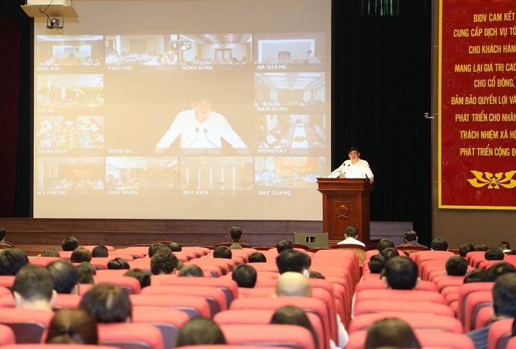 Hội nghị trực tuyến toàn hệ thống BIDV, hôm 23/3.