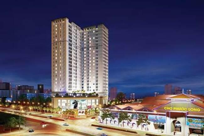 Phối cảnh dự án Viva Plaza nằm trên trục đường Nguyễn Lương Bằng, quận 7.