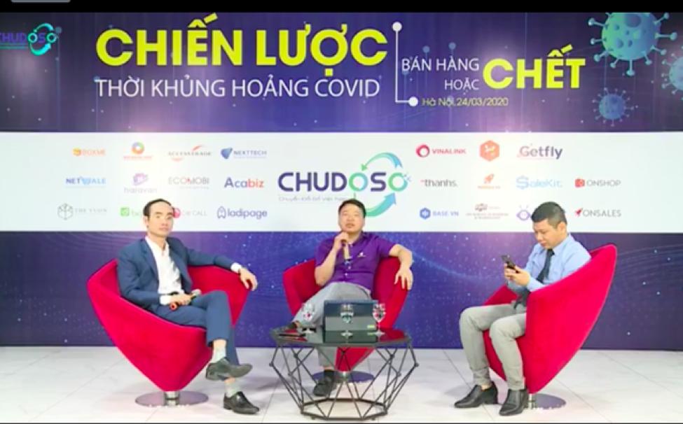 Từ trái qua phải: CEO Đỗ Hữu Hưng, CEO Nguyễn Hòa Bình và CEO Tuấn Hà tại sự kiện.