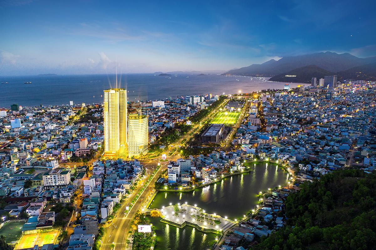 Phối cảnh dự án dự án căn hộ Grand Center Quy Nhon ngay trung tâm thành phố Quy Nhơn.