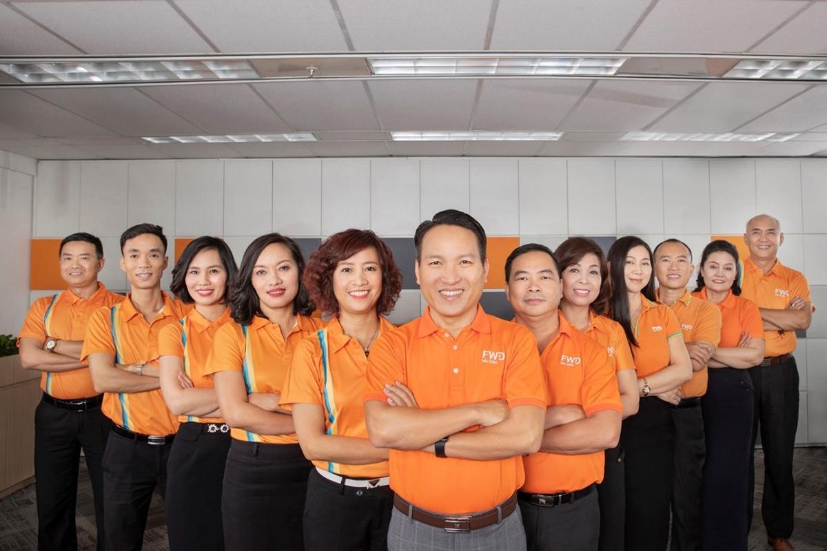 Đội ngũ ban lãnh đạo FWD Việt Nam.