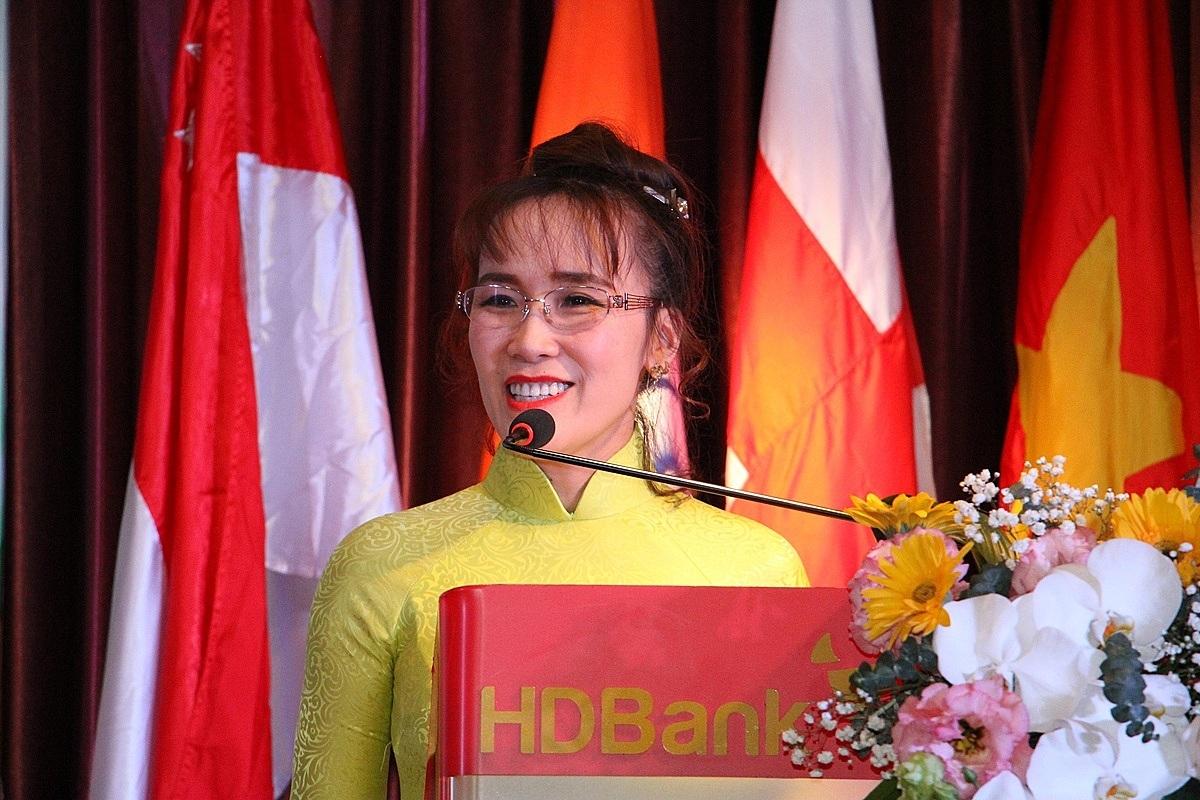Nữ tướng của HDBank, tỷ phú Nguyễn Thị Phương Thảo gửi lời động viên và tin tưởng vào nỗ lực cũng như hiệu quả hoạt động của toàn hệ thống nhà băng này.