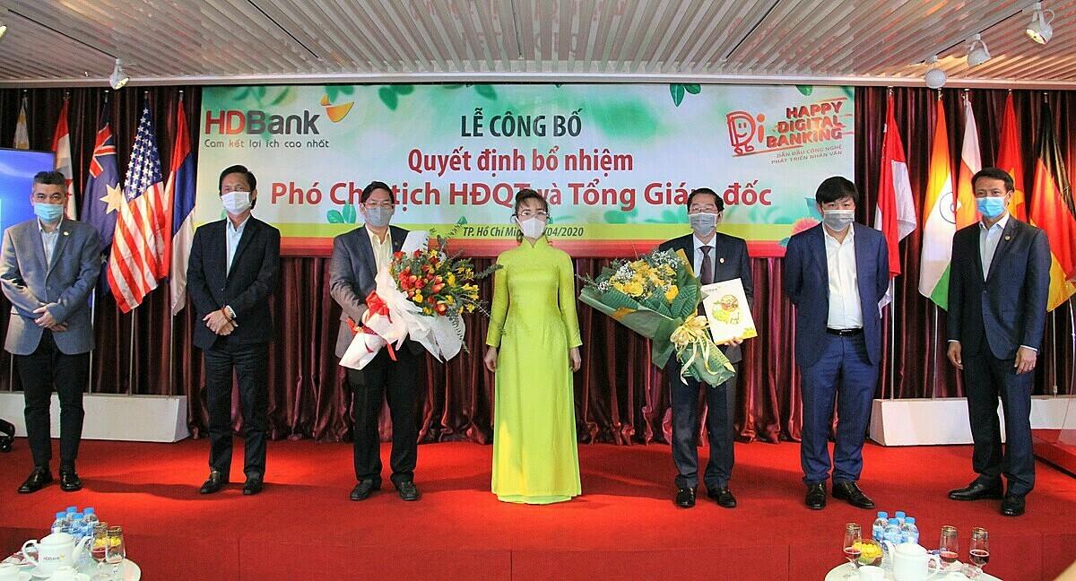Sự kiện bổ nhiệm lãnh đạo cấp cao mới của HDBank diễn ra trực tuyến qua Zoom, tại hội sở TP HCM và 154 đầu cầu trên cả nước.