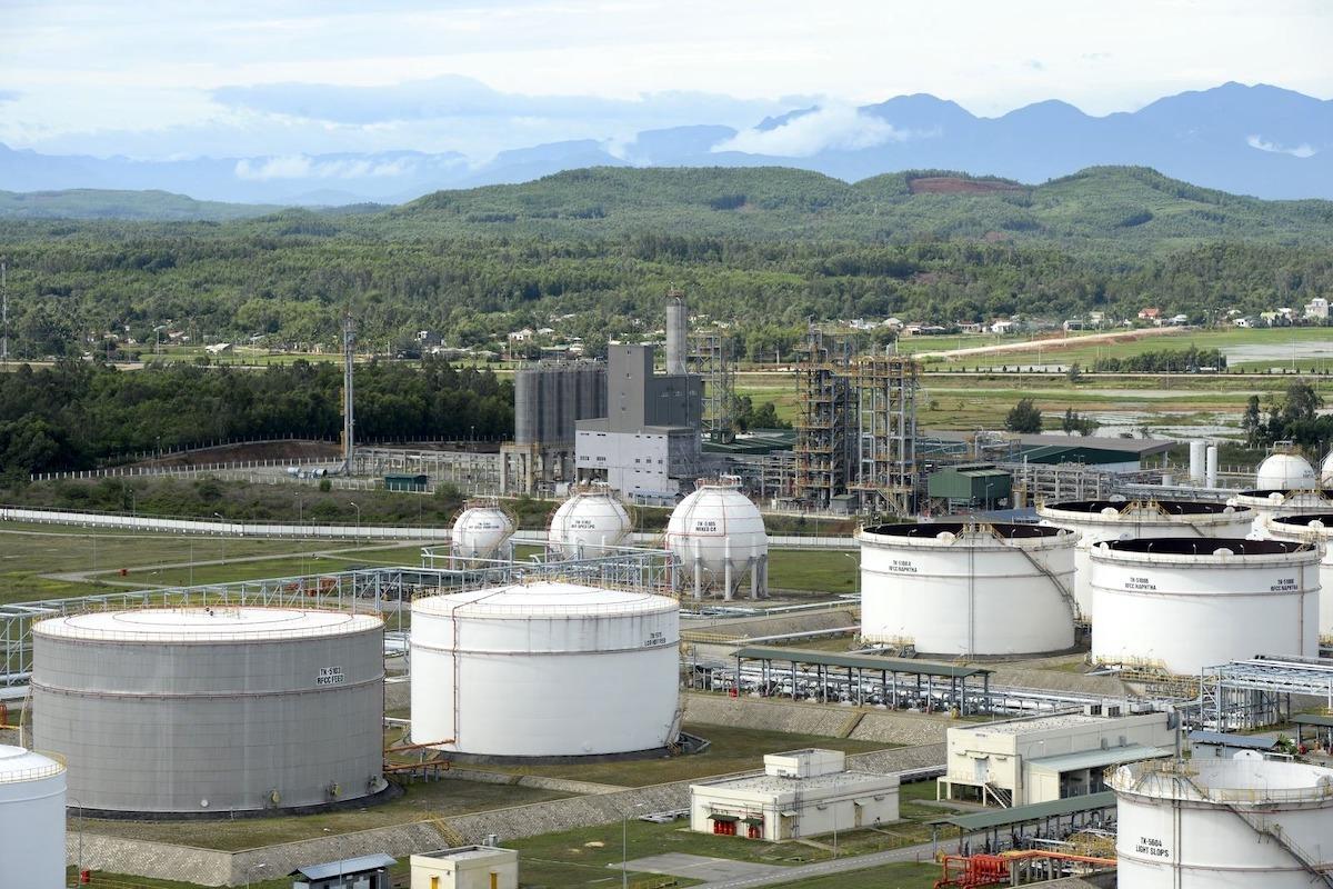 Nhà máy lọc dầu Dung Quất (Quảng Ngãi). Ảnh: BSR