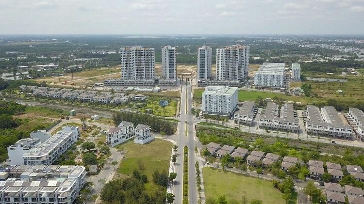 Hình thực tế một phần dự án khu đô thị Mizuki Park 26ha được phát triển bởi liên doanh Nam Long và 2 đối tác Nhật Bản